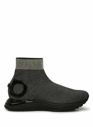 Salvatore Ferragamo Salvatore Ferragamo   Simli Çorap Formlu Kadın Sneaker 101630829 Altın